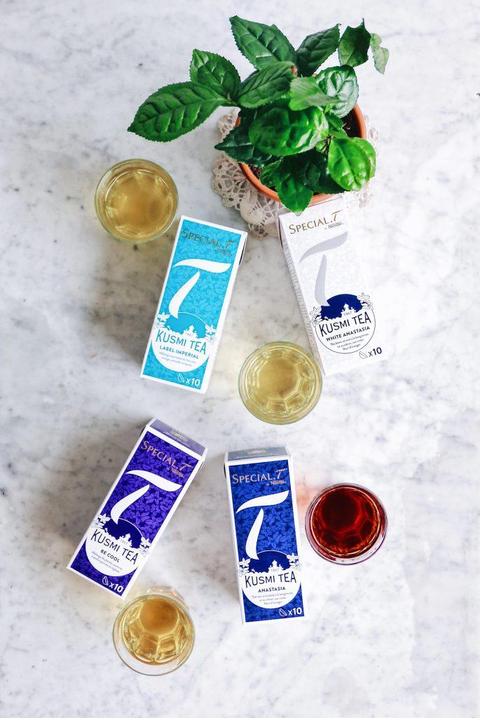 La gamme de thés lancée par SPECIAL.T en collaboration avec KUSMI TEA