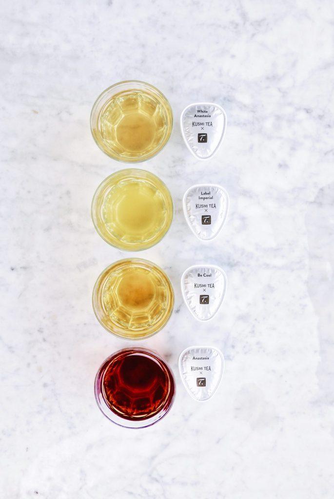 Différentes couleurs et arômes de KUSMI TEA