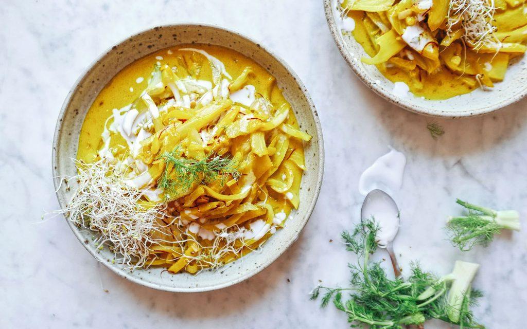 Curry de fenouil au safran, recette facile fenouil, nutrition Genève, sain