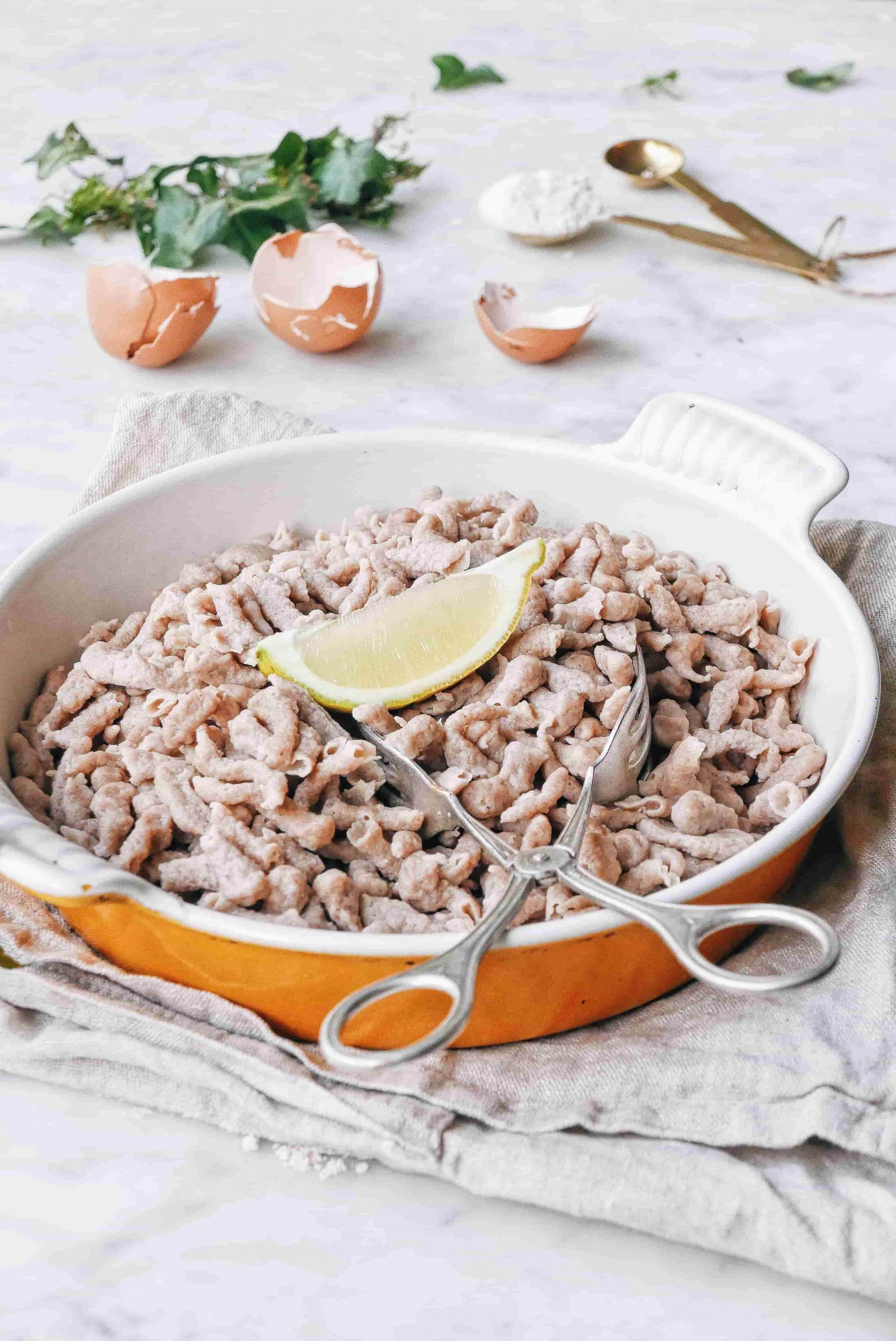 Spätzle maison facile 5 ingrédients farine de châtaigne